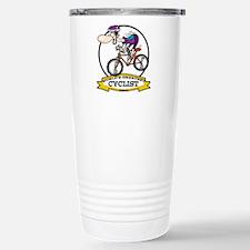 WORLDS GREATEST CYCLIST MEN CARTOON Travel Mug