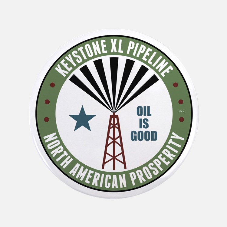 "Keystone XL Pipeline 3.5"" Button"
