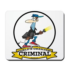 WORLDS GREATEST CRIMINAL MEN CARTOON Mousepad