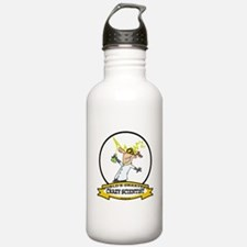 WORLDS GREATEST CRAZY SCIENTIST CARTOON Water Bottle