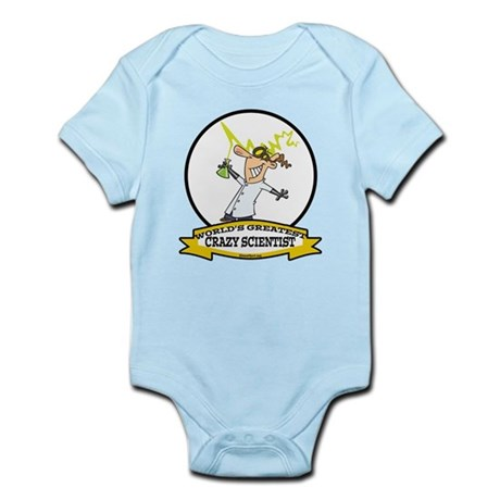 WORLDS GREATEST CRAZY SCIENTIST CARTOON Infant Bod