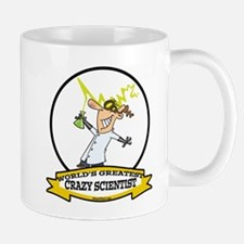WORLDS GREATEST CRAZY SCIENTIST CARTOON Small Mugs