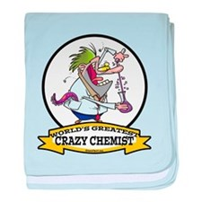 WORLDS GREATEST CRAZY CHEMIST CARTOON baby blanket