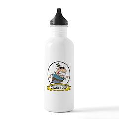 WORLDS GREATEST CRANKY COP CARTOON Water Bottle