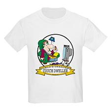 WORLDS GREATEST COUCH DWELLER CARTOON T-Shirt