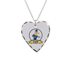WORLDS GREATEST COP CARTOON Necklace