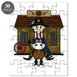 Cowboy Sheriff at Jailhouse Puzzle