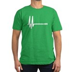 IE6 Flatline Men's Fitted T-Shirt (dark)