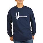 IE6 Flatline Long Sleeve Dark T-Shirt