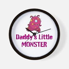 Daddy's Little Monster Wall Clock