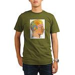 Organic Men's T-Shirt (dark), A picture of good he