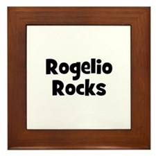 Rogelio Rocks Framed Tile