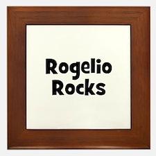 Rogelio Rocks Framed Tile