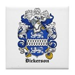 Dickerson Coat of Arms Tile Coaster