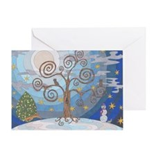 A Cold Winters Night Greeting Card