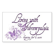 Living with Fibromyalgia Decal