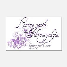 Living with Fibromyalgia Car Magnet 20 x 12