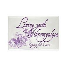 Living with Fibromyalgia Rectangle Magnet