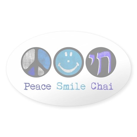 Peace Smile Chai Sticker (Oval)