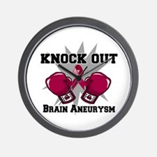Knock Out Brain Aneurysm Wall Clock