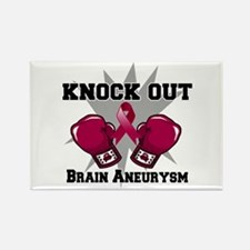 Knock Out Brain Aneurysm Rectangle Magnet