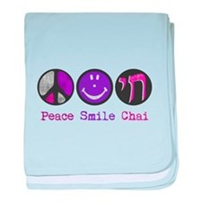 Peace Smile Chai baby blanket