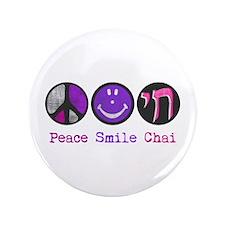 """Peace Smile Chai 3.5"""" Button"""