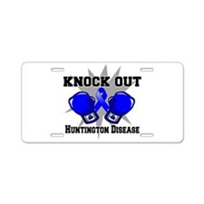 Knock Huntington Disease Aluminum License Plate