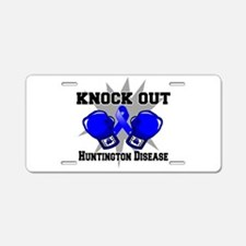 Knock Huntington Disease Aluminum License Plate