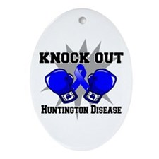 Knock Huntington Disease Ornament (Oval)