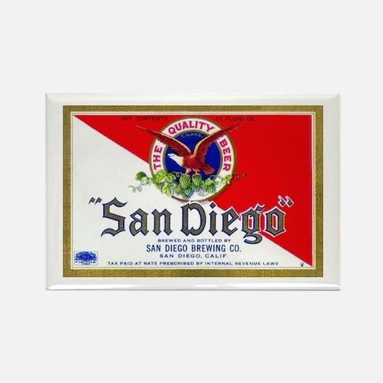 California Beer Label 9 Rectangle Magnet