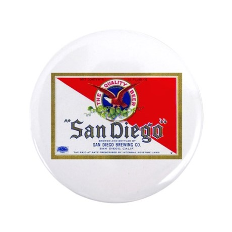 """California Beer Label 9 3.5"""" Button (100 pack)"""