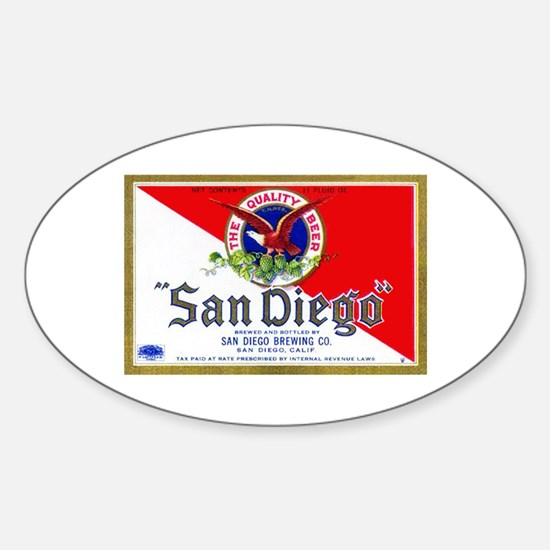 California Beer Label 9 Sticker (Oval)
