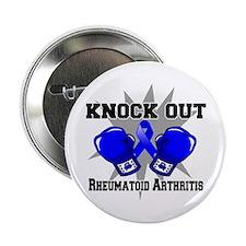 """Knock Rheumatoid Arthritis 2.25"""" Button"""