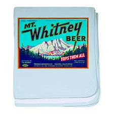 California Beer Label 7 baby blanket