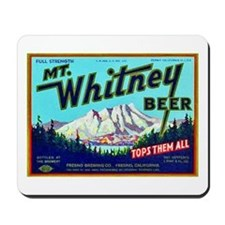 California Beer Label 7 Mousepad
