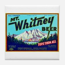 California Beer Label 7 Tile Coaster