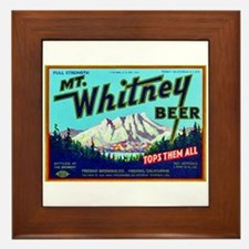 California Beer Label 7 Framed Tile
