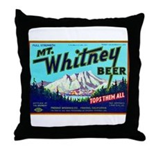 California Beer Label 7 Throw Pillow