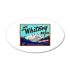 California Beer Label 7 22x14 Oval Wall Peel