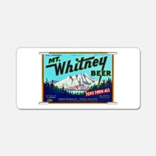 California Beer Label 7 Aluminum License Plate