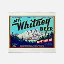 California Beer Label 7 Throw Blanket