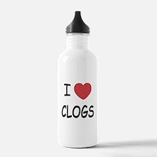 I heart clogs Water Bottle