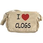 I heart clogs Messenger Bag