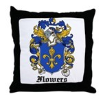 Flowers Coat of Arms Throw Pillow