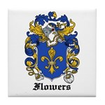 Flowers Coat of Arms Tile Coaster