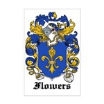 Flowers Coat of Arms Mini Poster Print