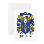 Flowers Coat of Arms Greeting Cards (Pk of 10)