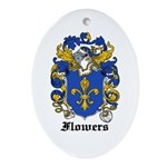 Flowers Coat of Arms Oval Ornament