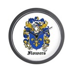 Flowers Coat of Arms Wall Clock